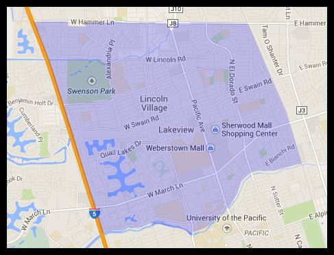 Map of Stockton 95207 Zip Code