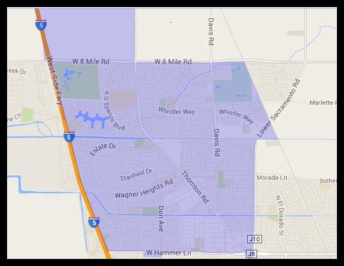 Map of Stockton 95209 Zip Code