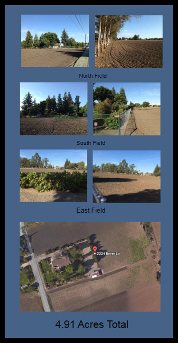 The fields at 2224 Beyer Lane, Stockton, CA